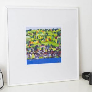 Old Town Zug Limited Edition Print by Jonathan Chapman MA