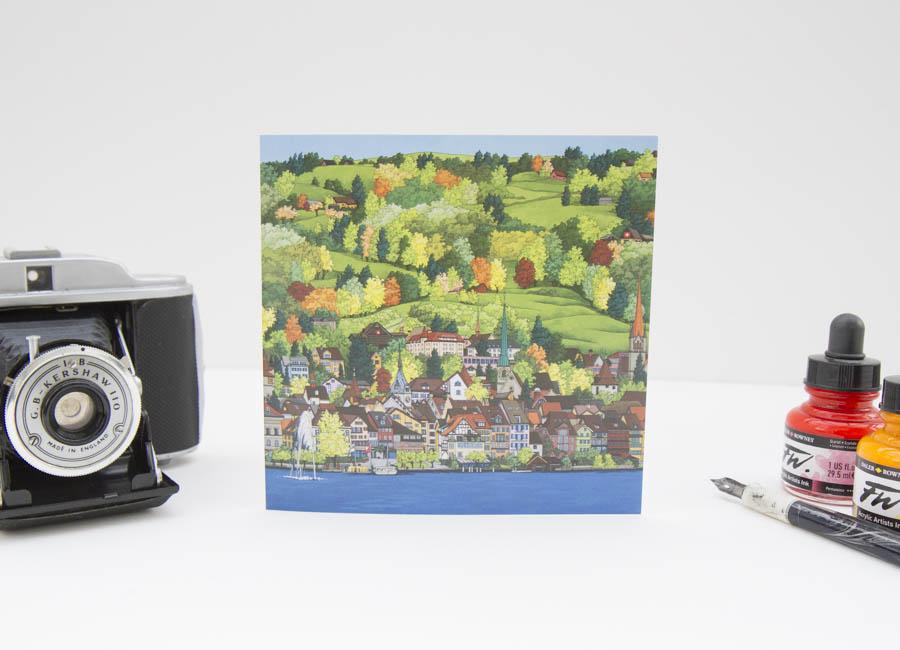 Old Town Zug card by Jonathan Chapman MA-2