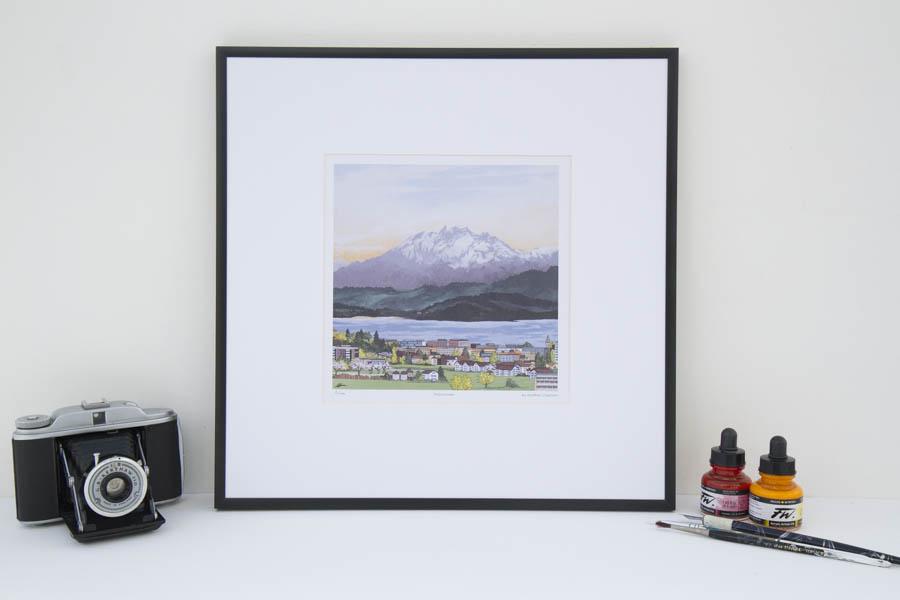 Pilatus Sunset Limited Edition Print