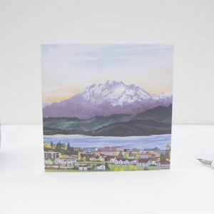 Pilatus Sunset Greeting Card
