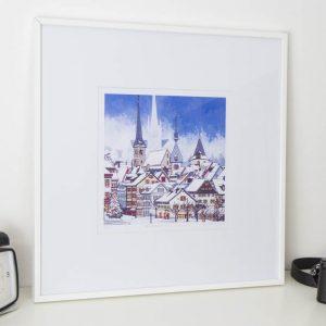 Snowfall Over Zug Limited Edition Print by Jonathan Chapman MA