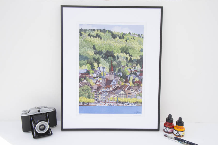 Springtime in Zug Limited Edition Print