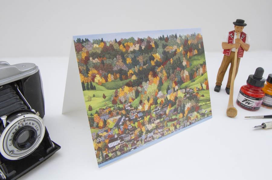 Walchwil Greeting Card by Jonathan Chapman MA