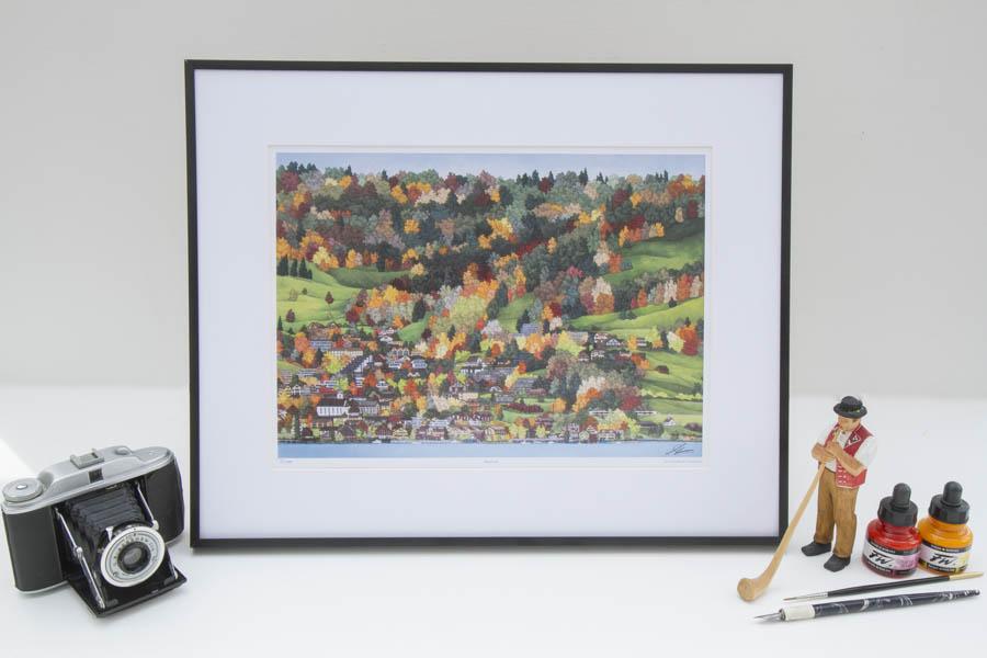 Walchwil Limited Edition Print by Jonathan Chapman MA