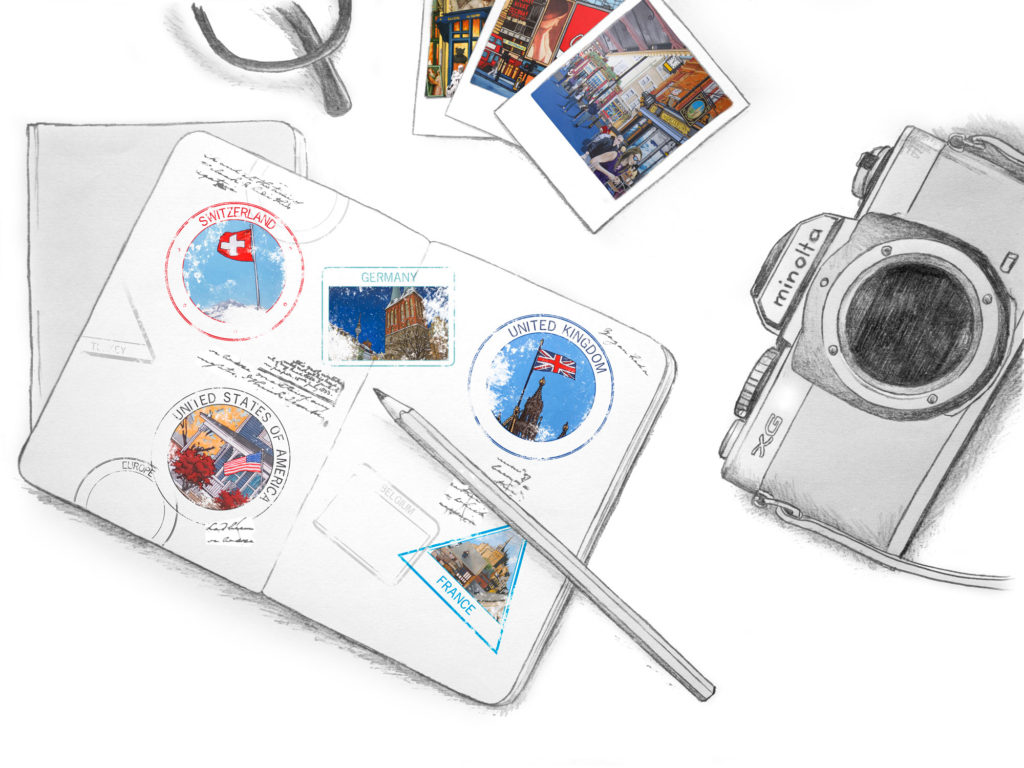 illustrated passport - lets explore - Studio on the move