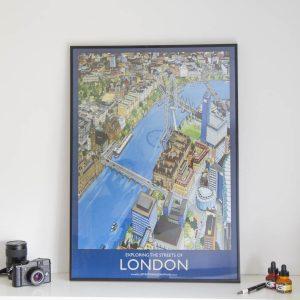 Explore London Poster