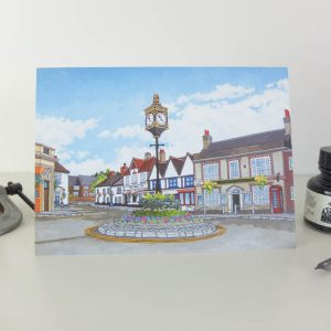 St Georges Square Greeting card