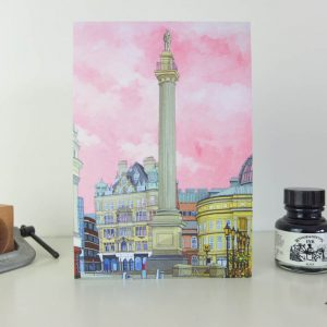 Monument Newcastle Greeting Card