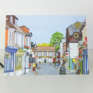 High Street Bishops Waltham Greeting Card