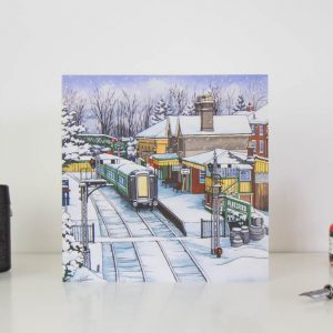 Alresford Station Greeting card