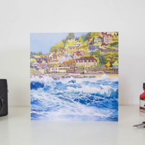 Waves at Looe Greeting Card