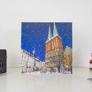 Nikolaiviertel Berlin Greeting Card