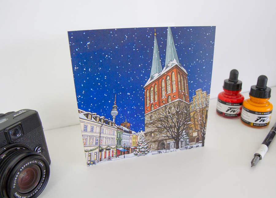 Nikolaiviertel Berlin Greeting Card