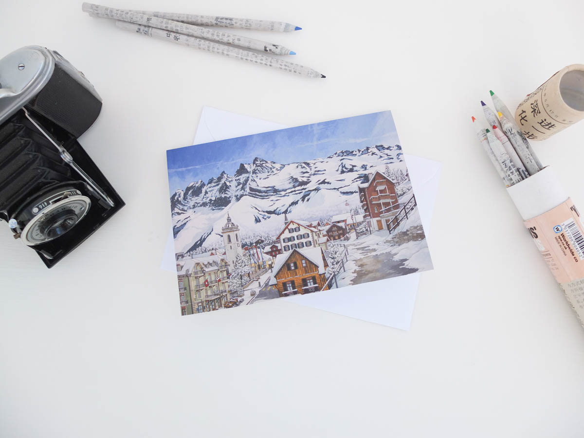 Champery Greeting Card