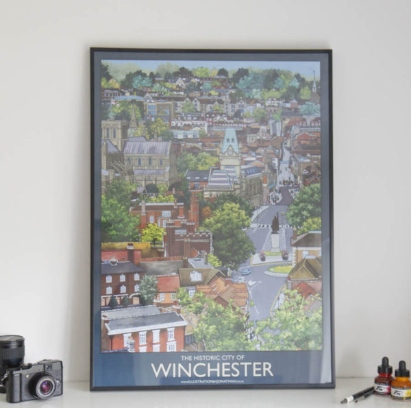 Historic Winchester Poster