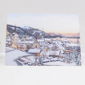 Winter Rosengarten Greeting Card