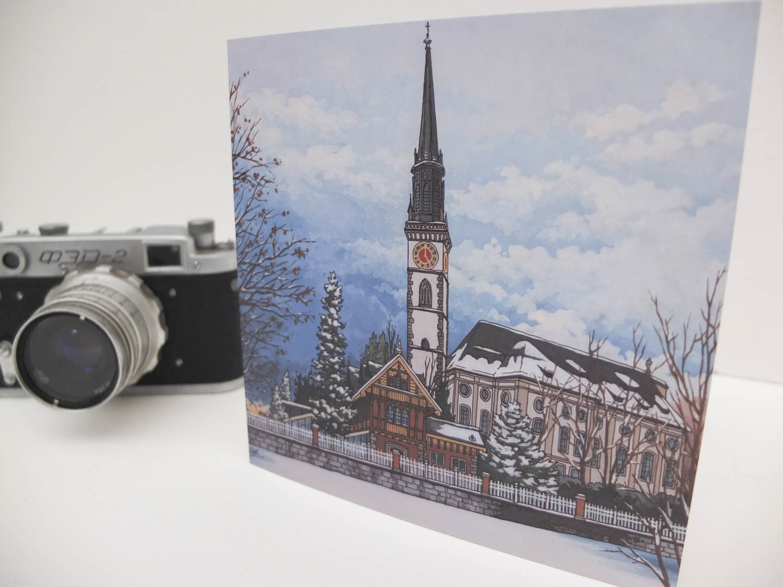 Snowy Cham Greeting Card