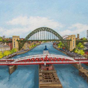 The River Tyne Illustration by Jonathan Chapman