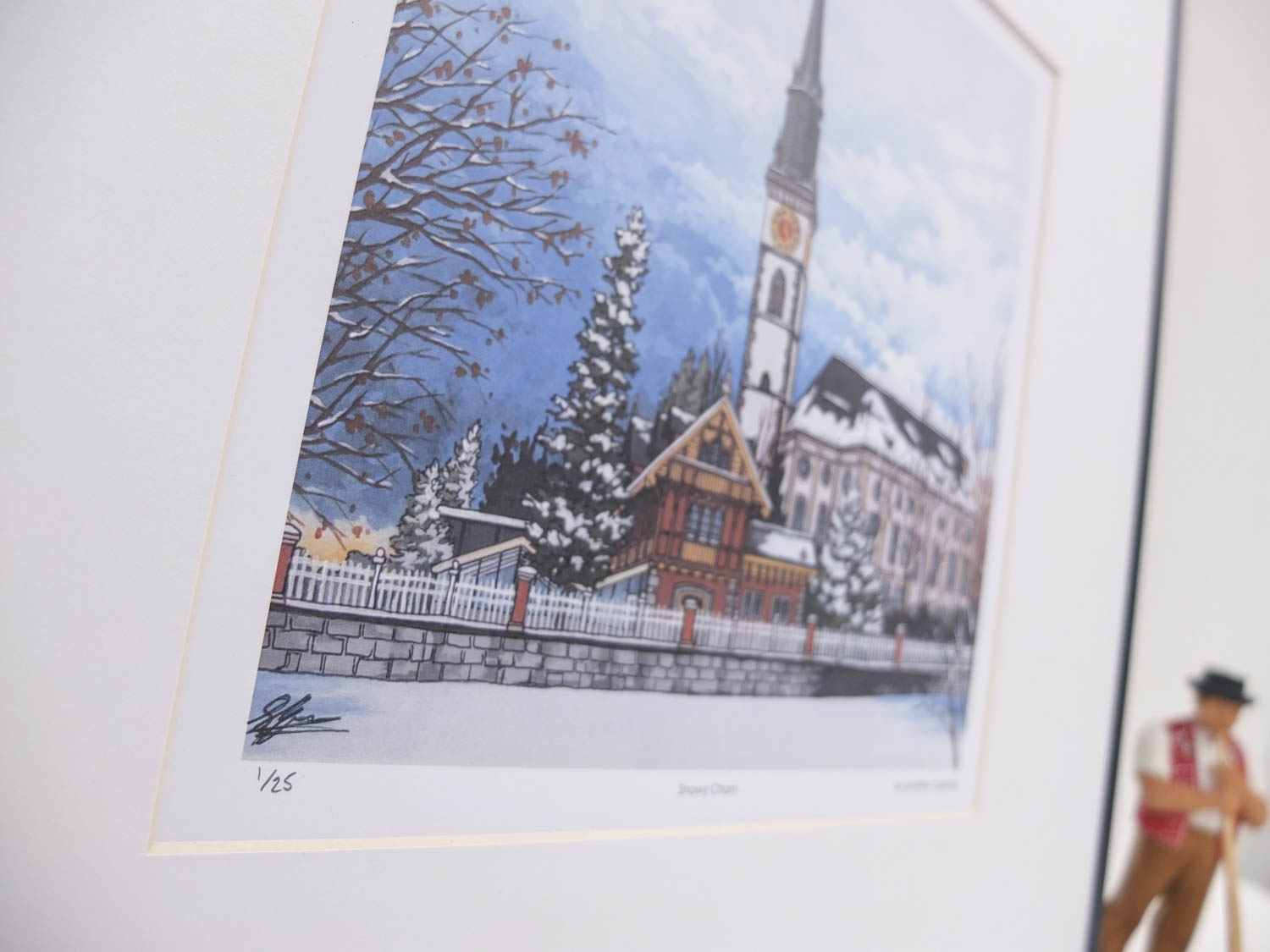 Snowy Cham Limited Edition Print