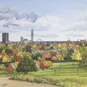 View From Primrose Hill by Jonathan Chapman