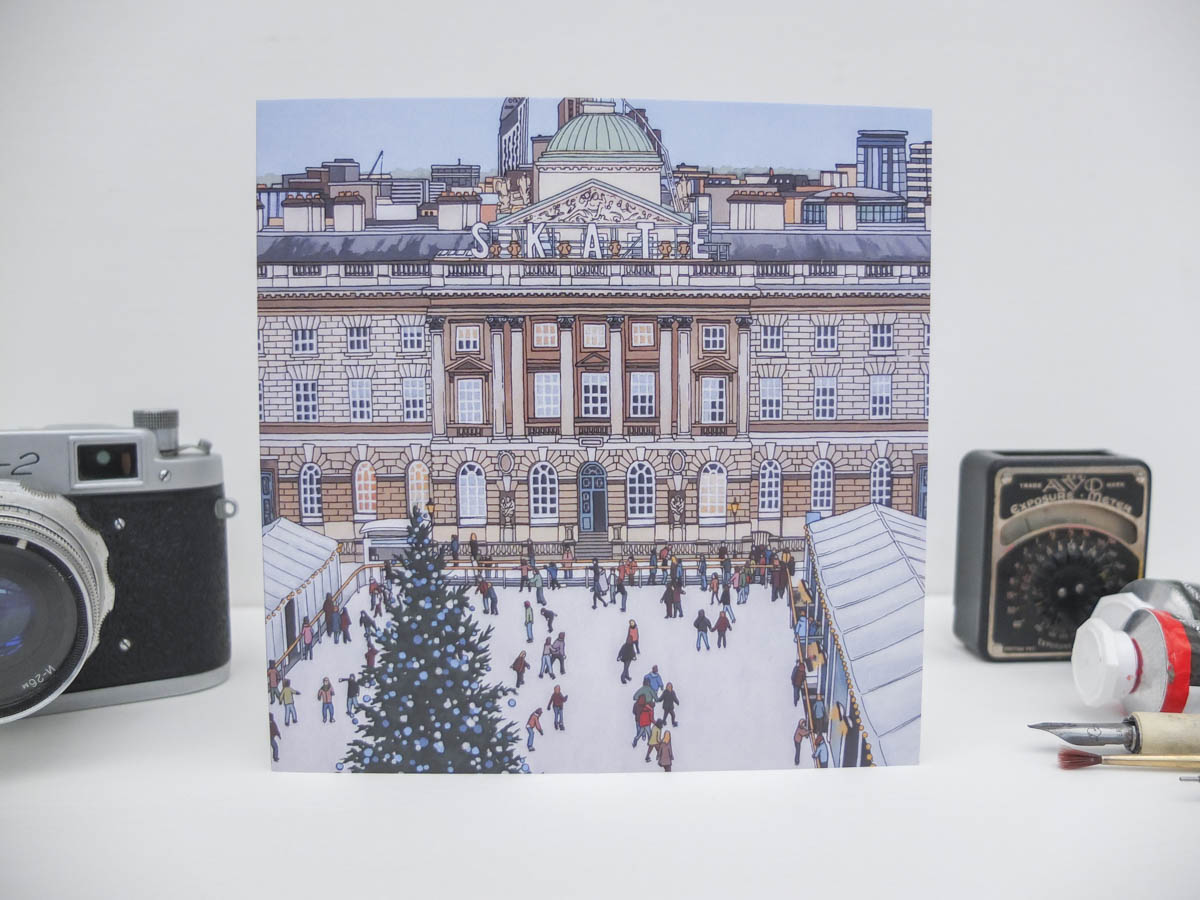 Skate Somerset House Greeting Card by Jonathan Chapman-2