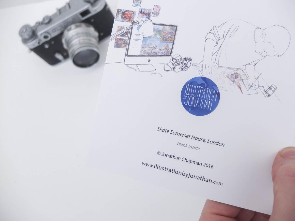 Skate Somerset House Greeting Card