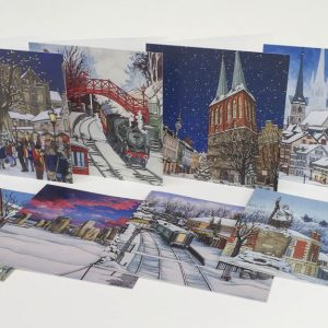 Christmas greeting card selection
