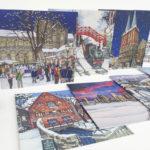 Christmas greeting card selection