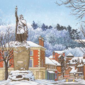 Snowy Alfred Illustration by Jonathan Chapman