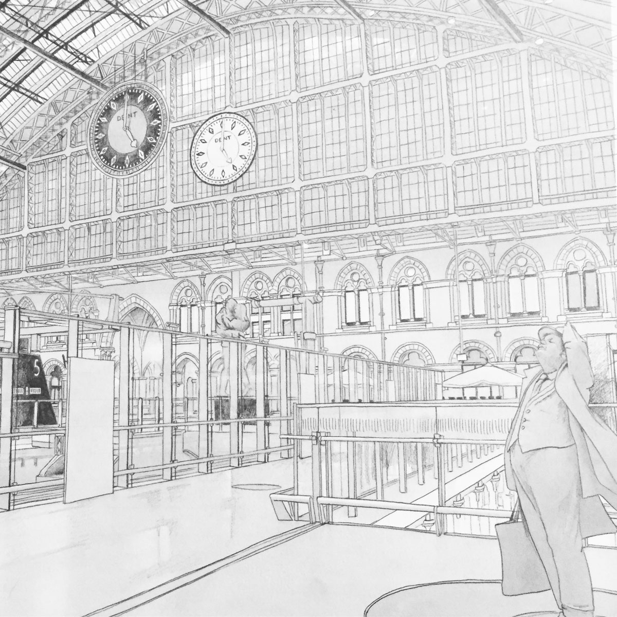 St Pancras London Sketches