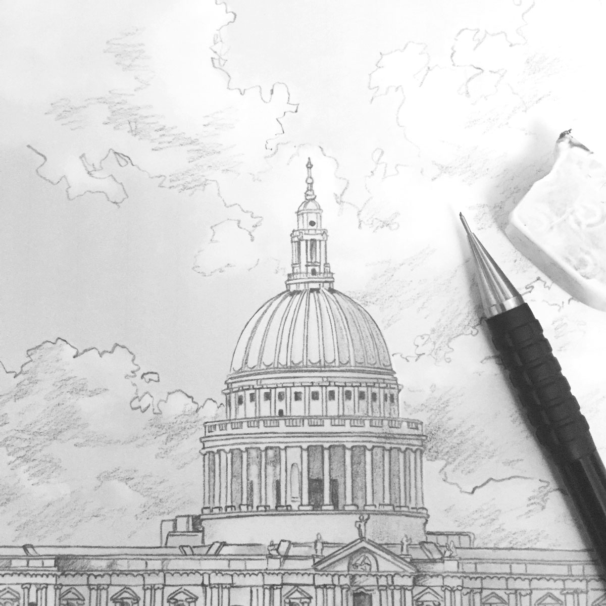 St Paul's London Sketches