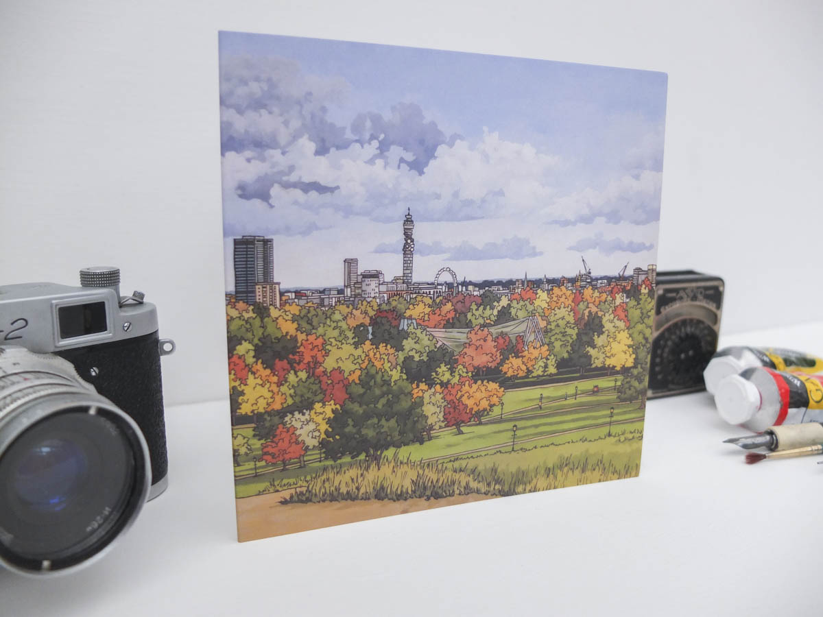 View From Primrose Hill Greeting Card