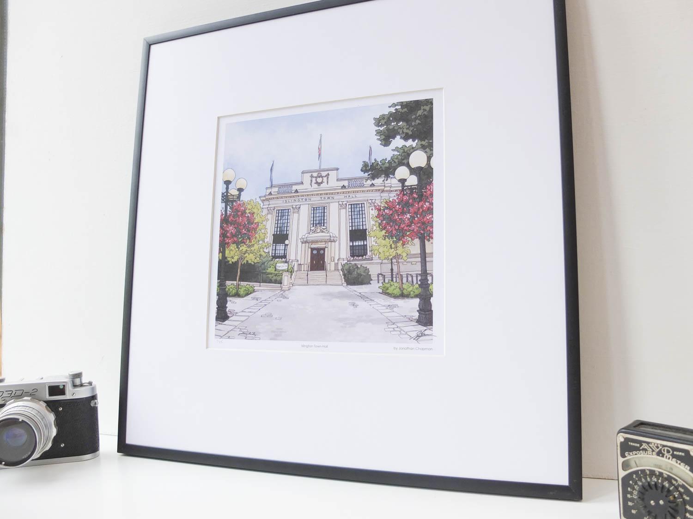 Islington Town Hall Limited Edition Print by Jonathan Chapman