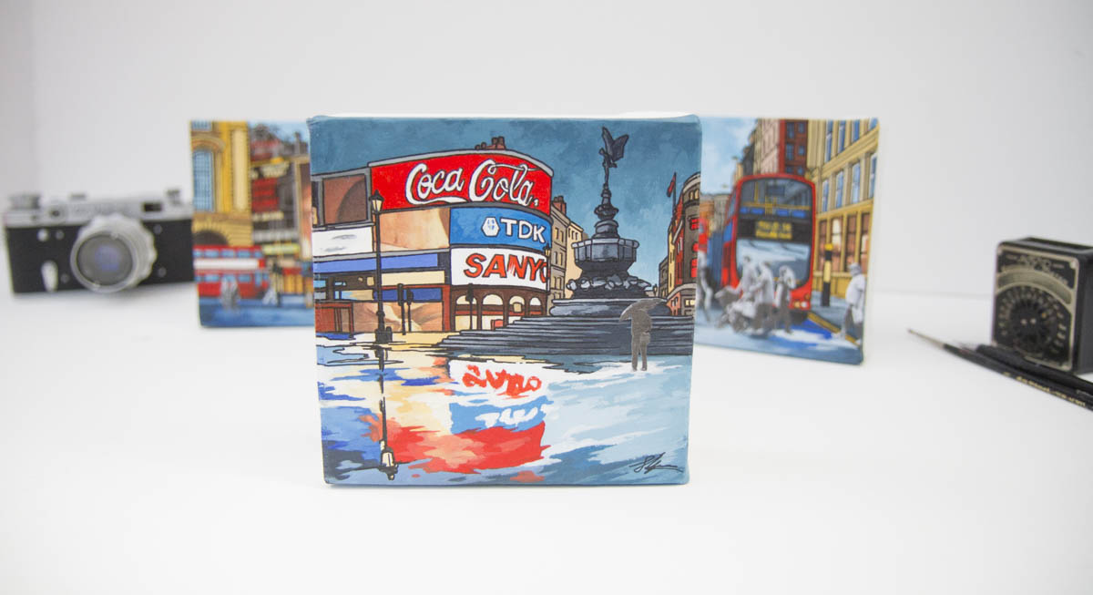 Piccadilly Reds original paintings by Jonathan Chapman