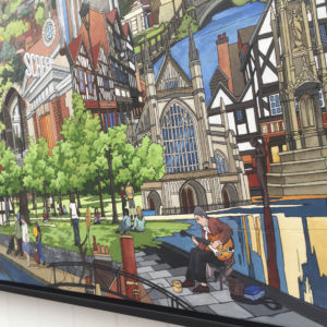 Winchester Collage original painting by Jonathan Chapman