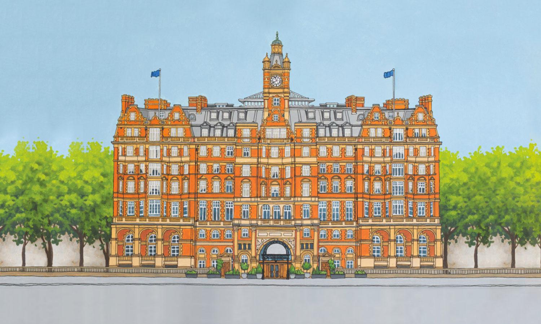 Landmark Tea Caddy Illustrations by Jonathan Chapman