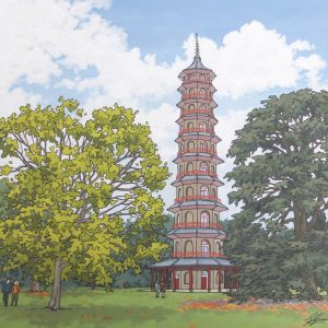 Kew Pagoda illustration by Jonathan Chapman