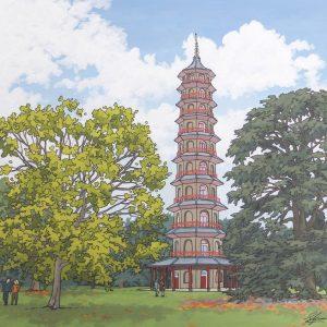 Kew Pagoda illustration by Jonathan Chapman