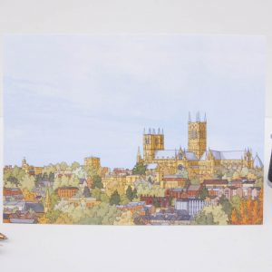 Lincoln Cathedral Greeting Card