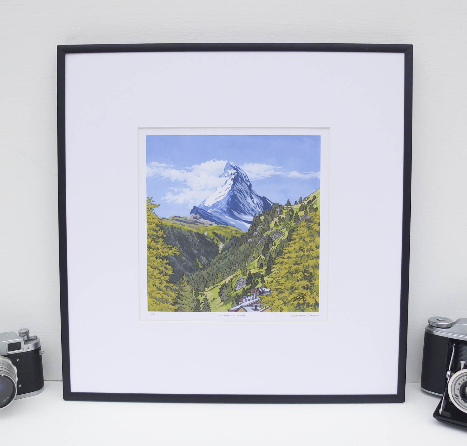 Matterhorn in Summer Limited Edition Print