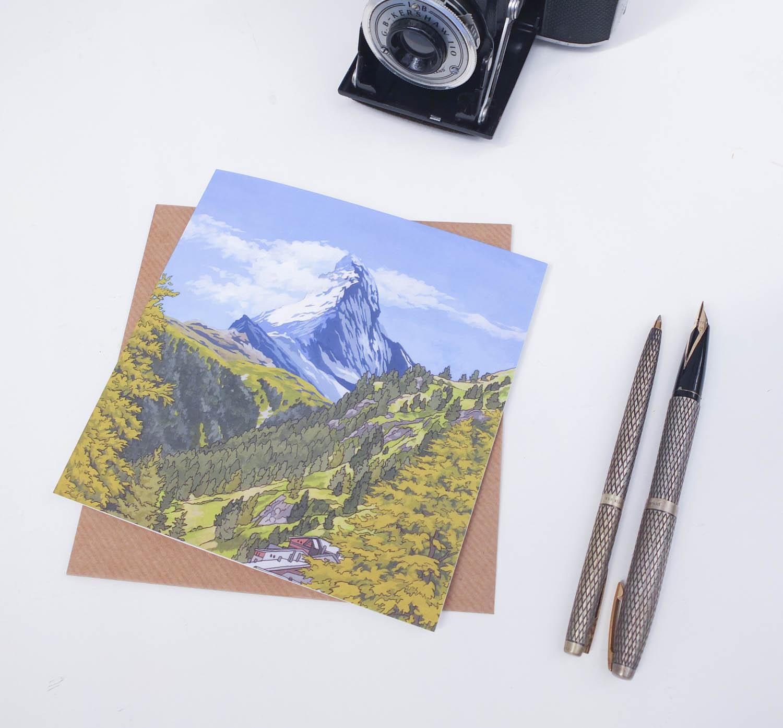 Matterhorn in Summer Greeting Card