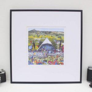 Pyramid Stage Glastonbury Limited Edition Print