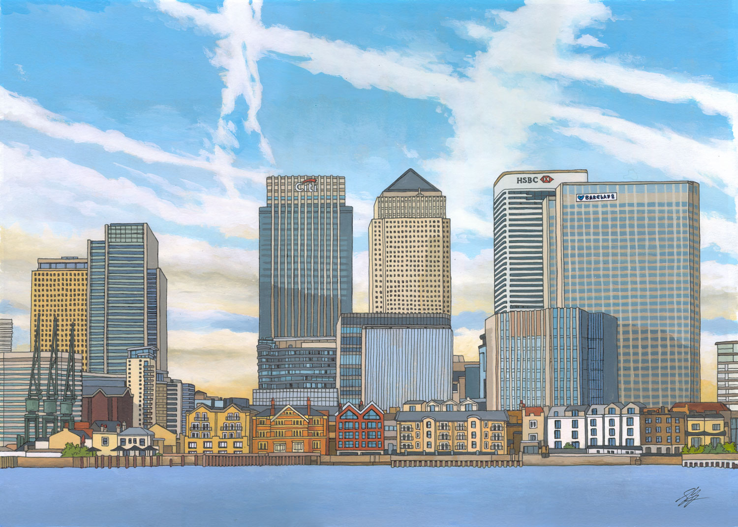 Canary Wharf - London Skyline