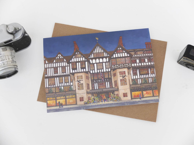 Liberty London Greeting Card by Jonathan Chapman-1