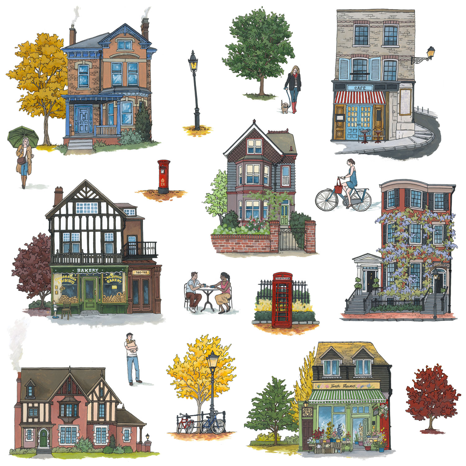 There's No Place Like Home Pattern design by Jonathan Chapman