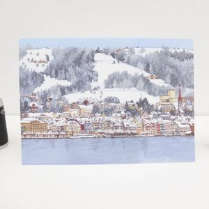 Eisigen Zugersee Greeting Card by Jonathan Chapman