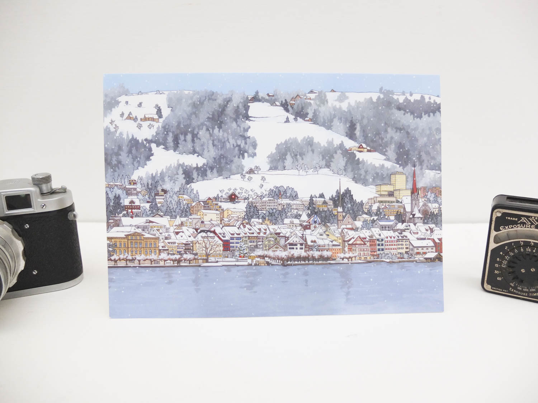 Eisigen Zugersee Greeting Card by Jonathan Chapman-2