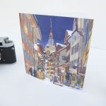 Starlight Altstadt Zug Greeting Card