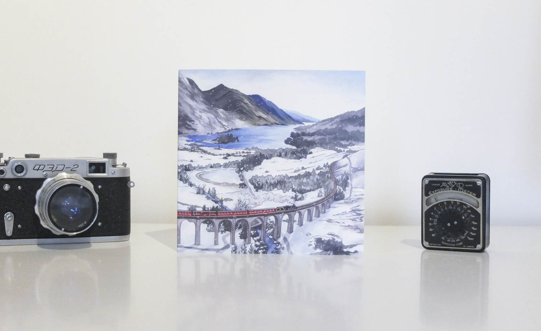 Glefinnan Viaduct Greeting Card by Jonathan Chapman