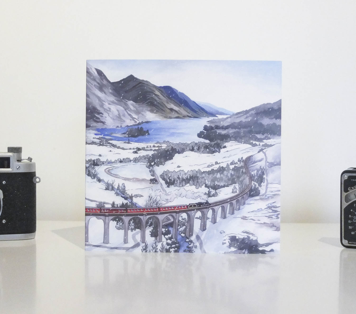 Glefinnan Viaduct Greeting Card by Jonathan Chapman-2
